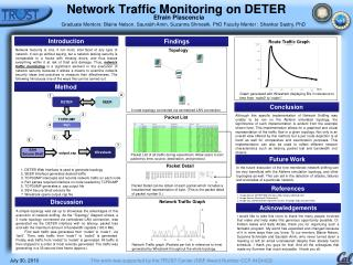 Network Traffic Monitoring on DETER