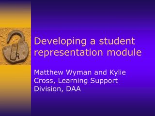 Developing a student representation module