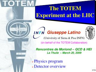 The TOTEM Experiment at the LHC