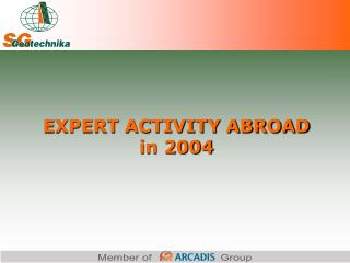 EXPERT ACTIVITY ABROAD in 2004