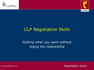 CLP Negotiation Skills