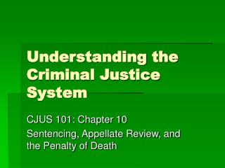 """a better understanding o the process of criminal justice system The crime controls and due process models by consider the goals of the american criminal justice system for a """"it is better that ten guilty."""