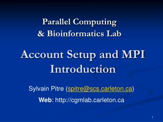 Account Setup and MPI Introduction