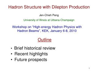 Hadron Structure with Dilepton Production