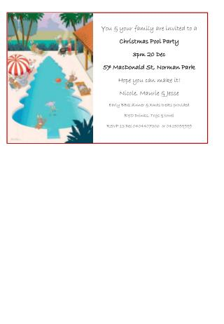 You & your family are invited to a Christmas Pool Party 3pm 20 Dec 57 MacDonald St, Norman Park