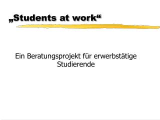 """Students at work"""