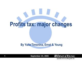 Profits tax: major changes
