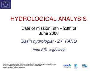 HYDROLOGICAL ANALYSIS