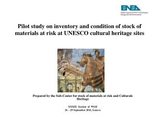 Prepared by the Sub-Center for stock of materials at risk and Culturale Heritage