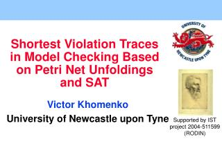 Shortest Violation Traces in Model Checking Based on Petri Net Unfoldings and SAT
