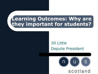 Learning Outcomes: Why are they important for students?