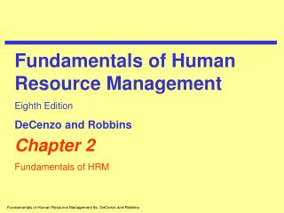 Chapter 2 Fundamentals of HRM
