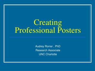 Creating Professional Posters