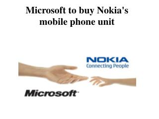 Microsoft to buy Nokia's mobile phone unit