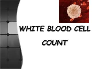 WHITE BLOOD CELL COUNT