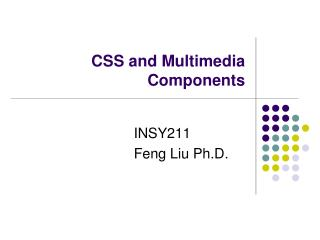 CSS and Multimedia Components