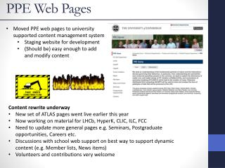 PPE Web Pages