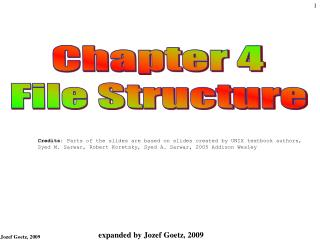 Chapter 4 File Structure