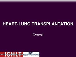 HEART-LUNG TRANSPLANTATION