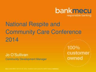 National Respite and Community Care Conference 2014