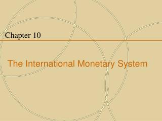 Chapter 10 The International Monetary System