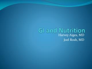 GI and Nutrition