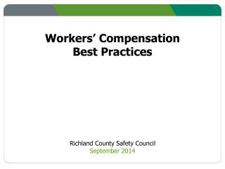 Workers' Compensation Best Practices