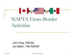 NAFTA Cross-Border Activities