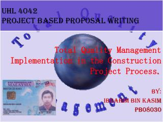 UHL 4042 PROJECT BASED PROPOSAL WRITING