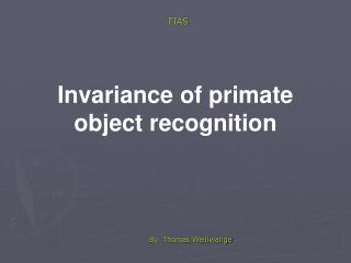 Invariance of primate object recognition