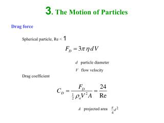 3. The Motion of Particles