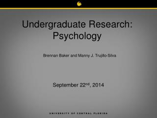 Undergraduate Research: Psychology