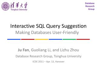 Interactive SQL Query Suggestion