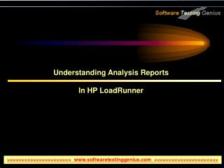 Understanding Analysis Reports In HP LoadRunner