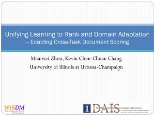 Unifying Learning to Rank and Domain Adaptation -- Enabling Cross-Task Document Scoring