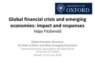 Global financial crisis and emerging economies: impact and responses Valpy  FitzGerald