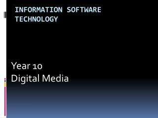 Information Software Technology