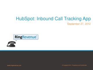 HubSpot :  Inbound Call Tracking App