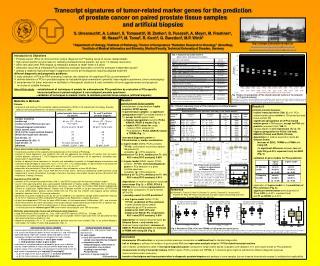 Results I paired prostate tissue samples establishment of standardized, highly