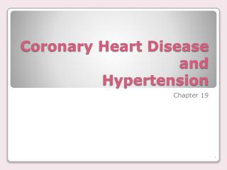 Coronary Heart Disease and Hypertension