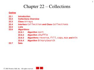 Chapter 22 – Collections