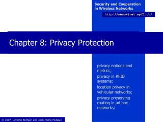 Chapter 8: Privacy Protection