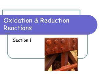 Oxidation & Reduction Reactions