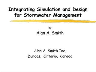 Integrating Simulation and Design for Stormwater Management