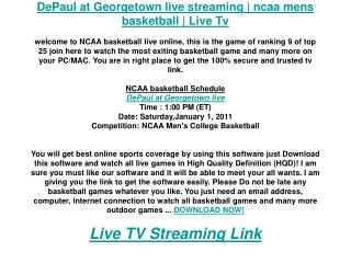 DePaul at Georgetown live streaming | ncaa mens basketball |