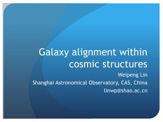 Galaxy alignment within cosmic structures