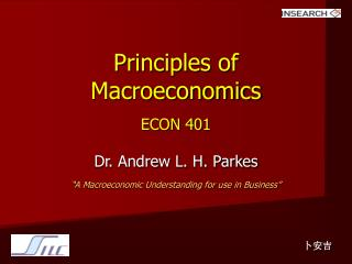 Principles of Macroeconomics ECON 401