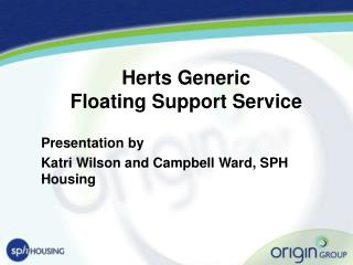 Herts Generic  Floating Support Service
