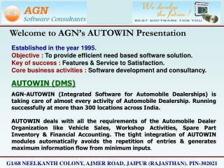 Welcome to AGN s AUTOWIN Presentation