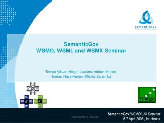 SemanticGov WSMO, WSML and WSMX Seminar